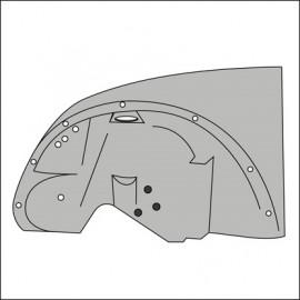 fianchetto anteriore completo di passaruota SX 1302/03