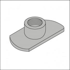 placchetta-dado per bullone parafango (cad.)