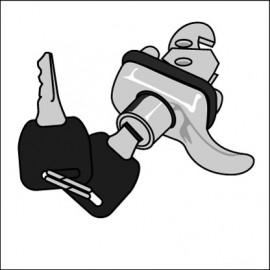 maniglia cofano posteriore 8/64 - 7/71 con chiave - Hella