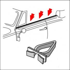 clips per modanature cromate vetri cabrio (cad.)