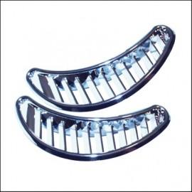 griglie areazione mezzaluna cromate - (coppia)