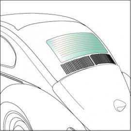 vetro lunotto termico 8/64-7/71 e 8/80-7/85