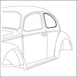 guarnizione vetro laterale 46-9/52 profilo stretto