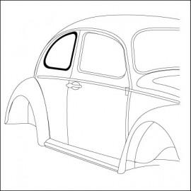 guarnizione vetro laterale DX Standard 46-9/52 - orig. Vw