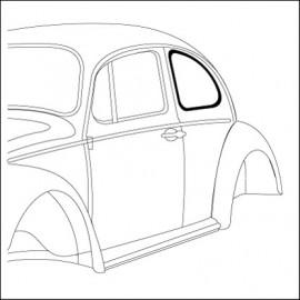 guarnizione vetro laterale SX Standard 10/52-7/64 - orig. Vw