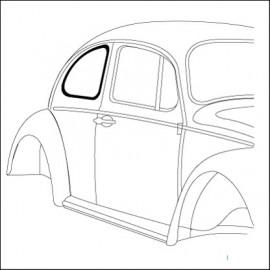 guarnizione vetro laterale DX Standard 10/52-7/64 - orig. Vw