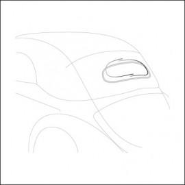 profilo in alluminio lunotto cabrio 58-62