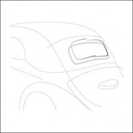 profilo in alluminio lunotto cabrio 63 - 75