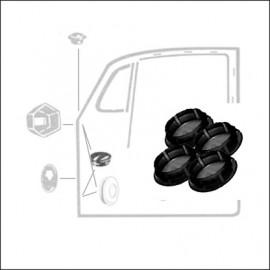 copri bulloni cerniere portiere neri (4 pz)