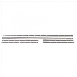 bacchette guarnizione vetri laterali/capote 1972