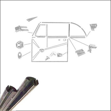 guarnizione verticale finestrino 52 - 79  - coppia