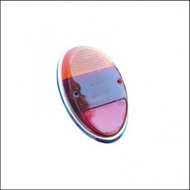 plastica rosso-arancio con ghiera per fanalino 8/61 - 7/67 - orig. Hella