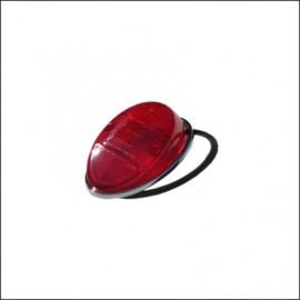 plastica rosso con ghiera per fanalino 8/61 - 7/67 - orig. Hella