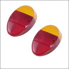 plastica rosso-arancione per fanalino 8/61 - 7/67 - (coppia)