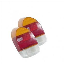 plastiche per fanalino 8/67 - 7/72 rosso-arancione-bianco  - (coppia)