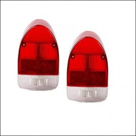 plastiche per fanalino 8/67 - 7/72 rosso-bianco - (coppia)