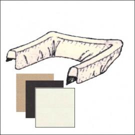 copricapote 63 - 64 vinile - colori beige - nero - bianco