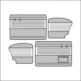 pannelli per porte cabrio ant/post TMI 8/55-7/64 bicolore off white 15/grey 16
