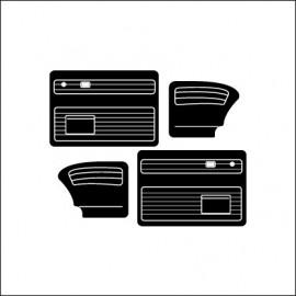 pannelli per porte ant/post (Brasil) con tasche 8/66 in poi black