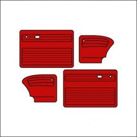 pannelli per porte cabrio ant/post TMI cabrio 65-66 - red 17