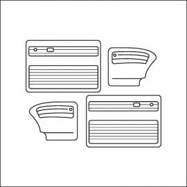 pannelli per porte cabrio ant/post TMI cabrio 67-72 - red 17