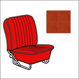 set fodere vinile TMI 8/57-7/64 brick red  23 con bordino off-white