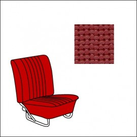 set fodere vinile TMI 8/64-7/67 Basket Weave/red 07