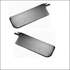 alette parasole cabrio 8/64-7/72 nere  - coppia