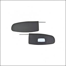 alette parasole 8/58-7/64 nere con specchio - coppia