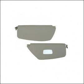 alette parasole 8/64-7/67 berlina bianche con specchio - coppia