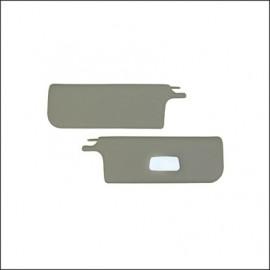 alette parasole cabrio 8/64-7/72 bianche con specchio - coppia