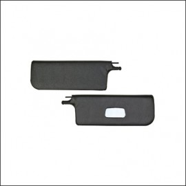 alette parasole cabrio 8/64-7/72 nere con specchio - coppia