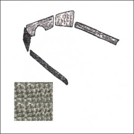 kit moquettes TMI 5 pz 54-57 grigio Premium Loop
