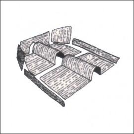 kit moquettes completa materiale originale 9 pz dal 8/64 al 7/69 - Germany