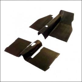tappetini in gomma ant+post con coperture torrette sedili 73- nero