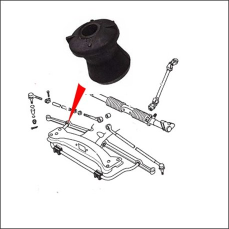 silentbloc barra stabilizzatrice/barra sospensione 1302/1303