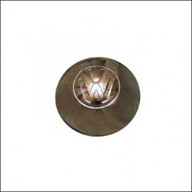 borchia cromata con stemma VW grande fino 7/49
