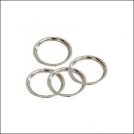 """anello in acciaio cromato per bordo esterno cerchio 14"""" - 4pz"""