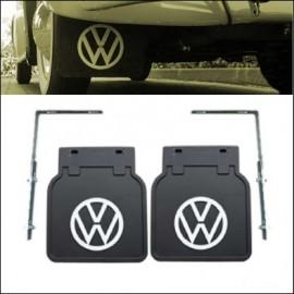 paraspruzzi nero con logo VW bianco