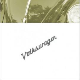 scritta Volkswagen corsiva per cofano anteriore