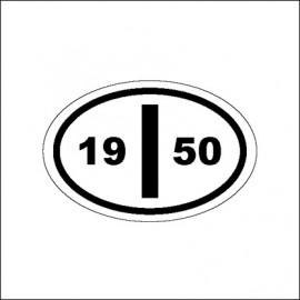 """targa """"I"""" con l'anno di costruzione dal 1950 al 1985"""