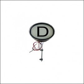 targa Deutchland, illuminata - 12 Volt