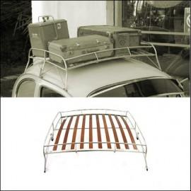 portapacchi per tetto verniciato con doghe in legno Flat4